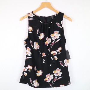 Halogen floral professional blouse sleeveless XS